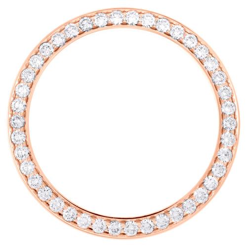 14K Rose Gold Diamond Watch Bezel 126331 DateJust 41 Rolex 7 Points 3.20 CT.
