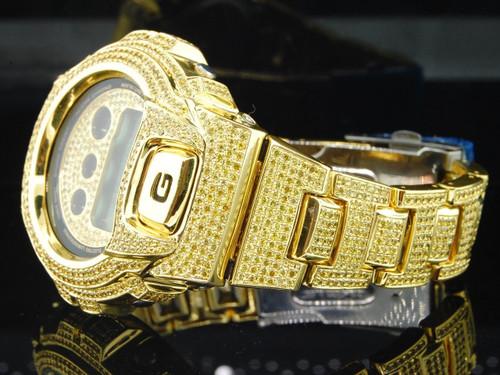 G-Shock/G Shock 10ct. Yellow Simulated Diamond Custom Bezel Joe Rodeo Band Watch