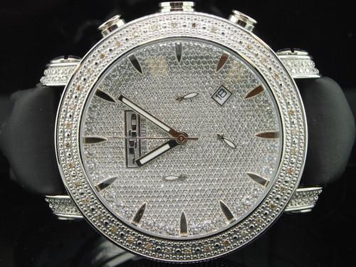 Mens JoJo Treasure JoJino Joe Rodeo IceTime 36 Diamond Watch Roman # Dial JTR31