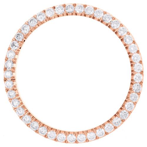 10K Rose Gold Diamond Watch Bezel For DateJust 41 Everose # 126331 Rolex 3.20 CT