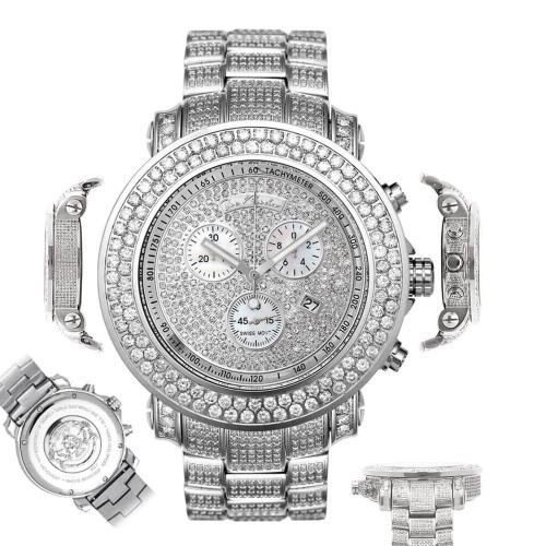 Men's Diamond Watch Joe Rodeo Junior JJU36 19.25 Ct Fully Loaded Dial