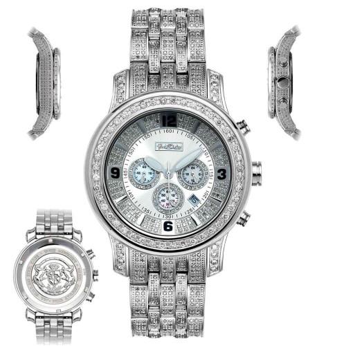 Men's Diamond Watch Joe Rodeo J2017 Fully Loaded 11 Ct Illusion Dial