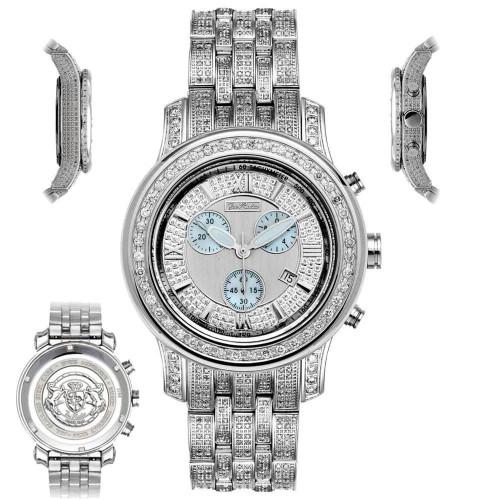 Men's Diamond Watch Joe Rodeo J2018 Fully Loaded 11 Ct Illusion Dial