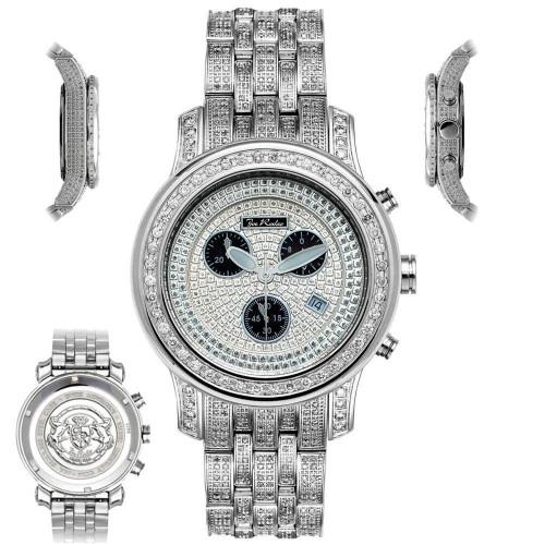 Men's Diamond Watch Joe Rodeo J2019 Fully Loaded 11 Ct Illusion Dial