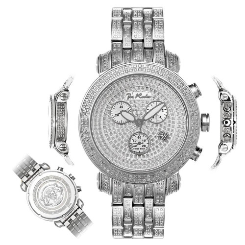 Men's Diamond Watch Joe Rodeo Fully Loaded Classic JCL77 3.75 Ct Illusion Dial