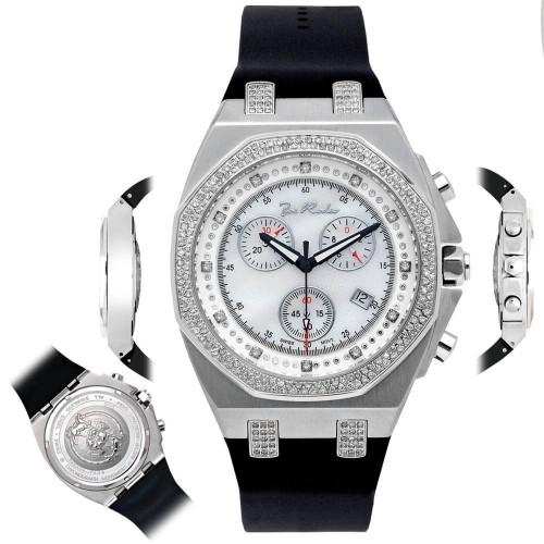 Men's Diamond Watch Joe Rodeo Panama JPAM1 2.15 Ct Octagon White Dial