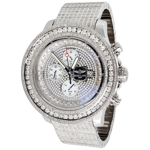 Men's Breitling Super Avenger 36 Ct Diamond 55mm Watch w/ Fully Loaded Band