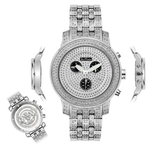 Men's Diamond Watch Joe Rodeo J2022 Fully Loaded 3.5 Ct Illusion Dial