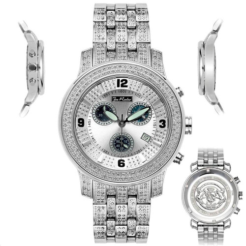 Men's Diamond Watch Joe Rodeo J2023 Fully Loaded 3.5 Ct Illusion Dial