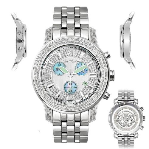 Men's Diamond Watch Joe Rodeo J2027 1.5 Ct Blue Chronograph