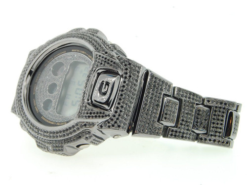 G-Shock/G Shock 10ct. Black Simulated Diamond Custom Bezel Joe Rodeo Band Watch