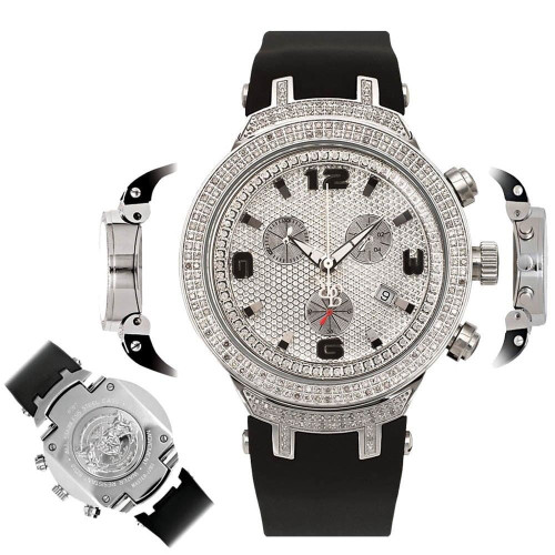 Men's Diamond Watch Joe Rodeo Master JJM88 2.20 Ct Chronograph Dial