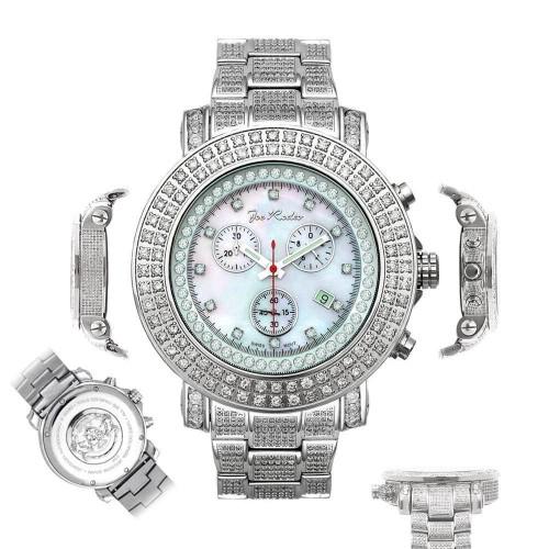 Men's Diamond Watch Joe Rodeo Junior JJU27 16.25 Ct Fully Loaded MOP White Dial