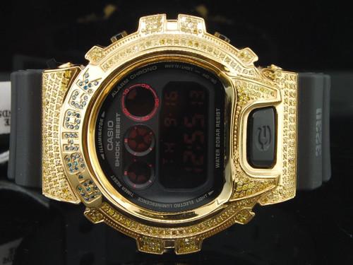 New G Shock/G-Shock 6900 Canary Yellow Diamond Watch Joe Rodeo 3.0 Ct