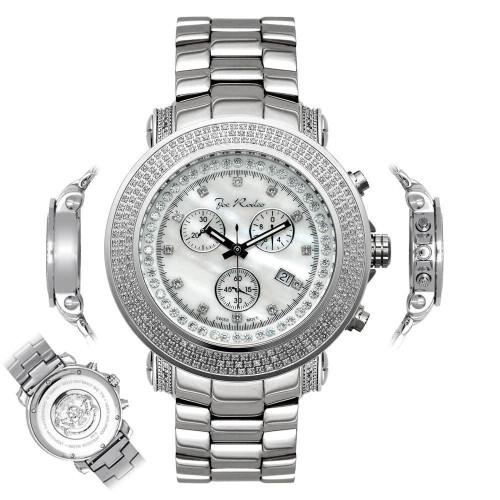 Men's Diamond Watch Joe Rodeo Junior JJU4 2.50 Ct White MOP Dial
