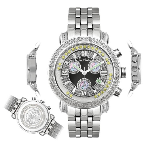 Men's Diamond Watch Joe Rodeo Classic JCL54(Y) 1.75 Ct Illusion Dial