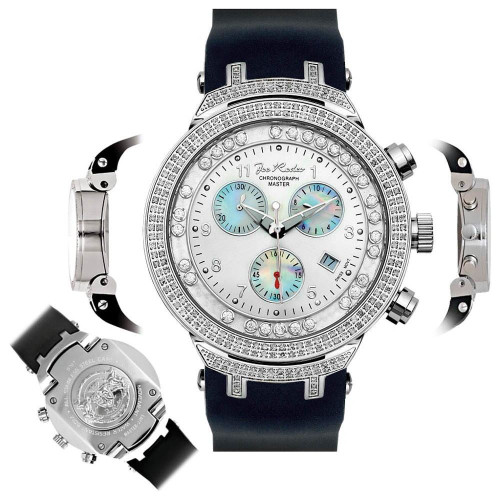 Men's Diamond Watch Joe Rodeo Master JJMS1(W) 2.20 Ct Chronograph Dial