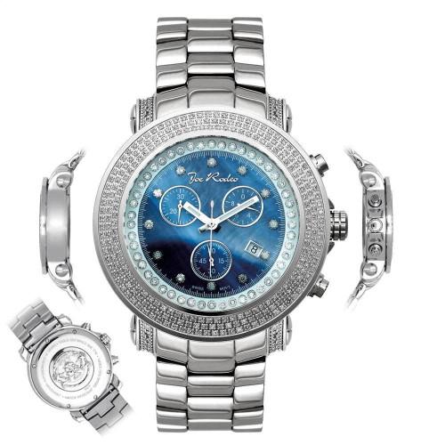 Men's Diamond Watch Joe Rodeo Junior JJU5 2.50 Ct Blue MOP Dial