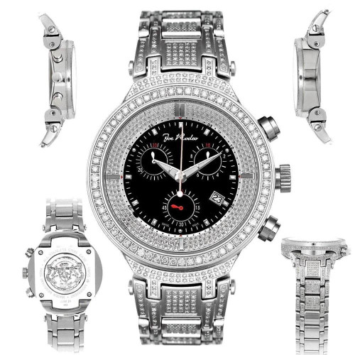 Men's Diamond Watch Joe Rodeo Master JJM15 5.20 Ct Black Illusion Dial