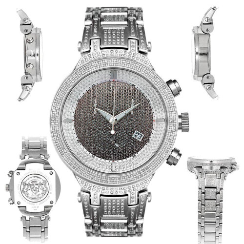 Men's Diamond Watch Joe Rodeo Master JJM12 4.75 Ct Illusion Dial