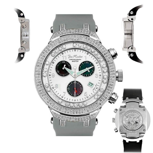 Men's Diamond Watch Joe Rodeo Master JJMS2(W) 2.20 Ct Chronograph Dial