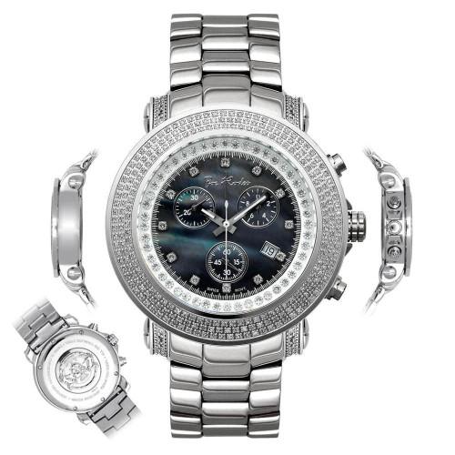 Men's Diamond Watch Joe Rodeo Junior JJU6 2.50 Ct Grey MOP Dial