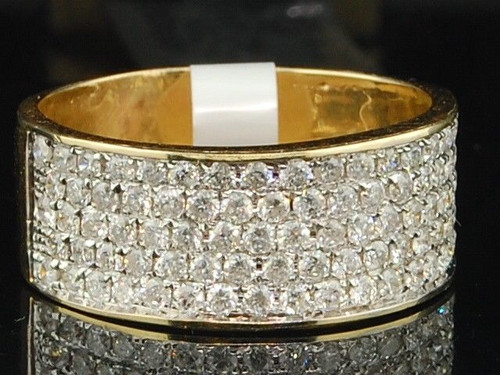 10K Ladies Yellow Gold Diamond Engagement Ring Wedding Band Bridal Set 1.03 ct