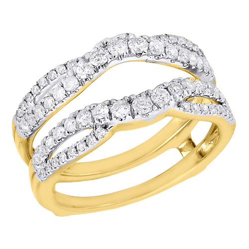 14K Yellow Gold Diamond Solitaire Engagement Ring Infinity Enhancer 0.63 Ct.