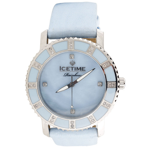 Ladies Diamond Watch IceTime Rainbow Joe Rodeo Baby Blue Dial 0.25 Ctw.