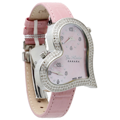 Joe Rodeo Womens Diamond Heart Watch JoJo 1.40 ct. Sahara JRS1