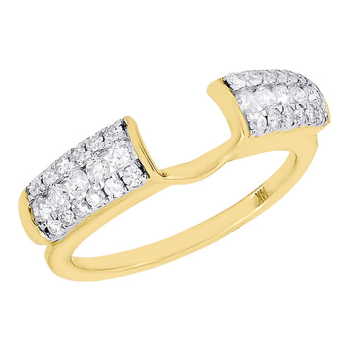 14K Yellow Gold Diamond Solitaire Engagement Ring Wrap Ladies Enhancer 0.50 Ct.
