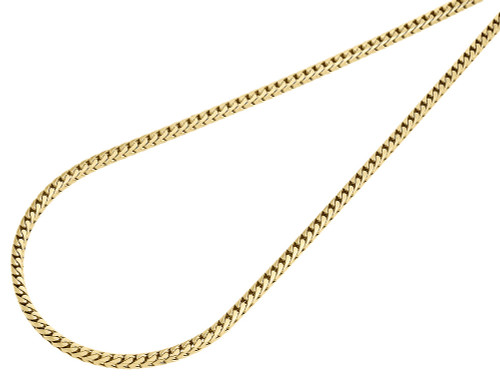 10K Yellow Gold Closed Link Solid Franco Box Chain 2.25mm Necklace 20 - 30 Inch