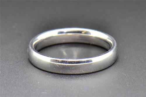 Comfort Fit Wedding Band 10K White Gold Plain Mens Engagement Ring 4mm SZ 10