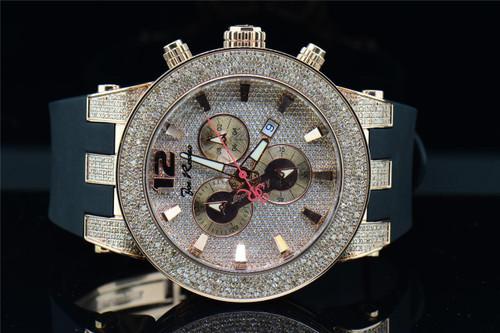 New Joe Rodeo Broadway JRBR6 Diamond Watch Polyurethane Band Rose Pink Dial 5 ct