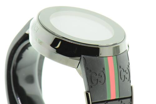 Gucci Watch Mens I-Gucci Collection Black Rubber Strap 44mm YA114207