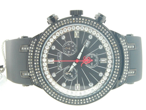 Mens Joe Rodeo JoJo Master Edition 242 Real Diamond Watch 2.20 Ct. Black JJM96