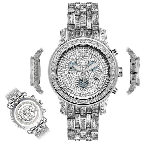Men's Diamond Watch Joe Rodeo J2016 Fully Loaded 11 Ct Illusion Dial