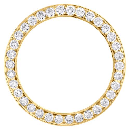 14K Yellow Gold Diamond Watch Bezel 126333 DateJust 41 Rolex 15 Points 5.25 CT.