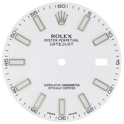 Factory Original Rolex DateJust II 41mm White Stick Dial Ref. # 116300 / 116334