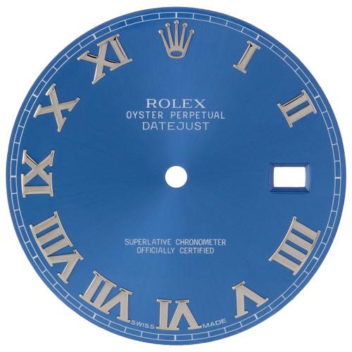 Factory Original Rolex DateJust II 41mm Blue Roman # Dial Ref. # 116300 / 116334