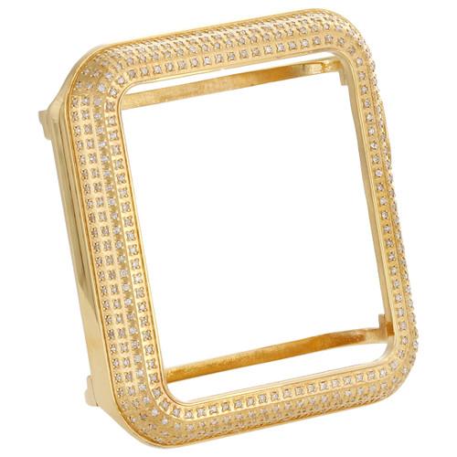 Apple Watch Series 1 Stainless Steel Genuine White Diamond Case 38MM Bezel 1 Ct.