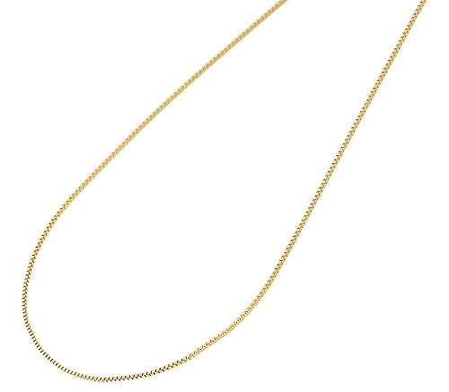 "10K Yellow Gold 0.50MM Box Chain Necklace  14"", 16"", 18"", 20"", 22"" & 24"" Length"