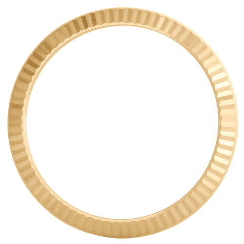Original Factory 18K Yellow Gold Fluted Bezel For Rolex DateJust 41 Watch 126333