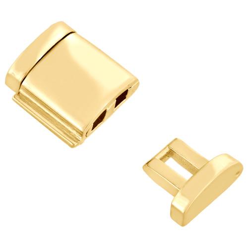 Solid 10K Yellow Gold Miami Cuban Chain / Bracelet 12mm Fancy Box Clasp Lock