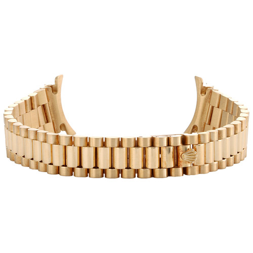 Ladies 18K Gold Factory Rolex President Bracelet 13mm Band To Fit 26mm DateJust