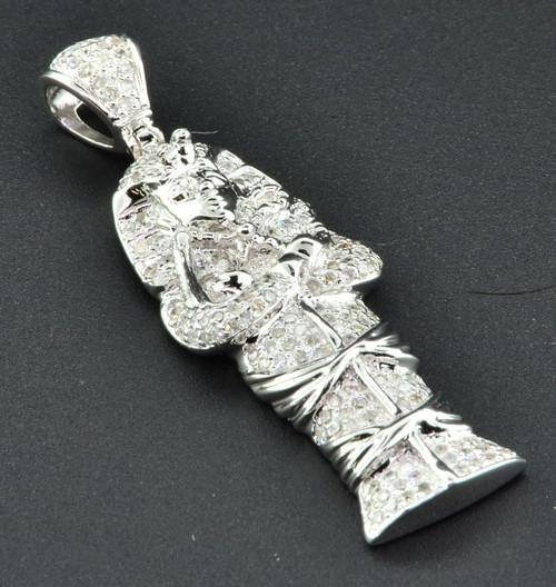 Tutankhamun Pharaoh sterling silver heavy charm pendant .925 x 1 Egypt SSLP2753