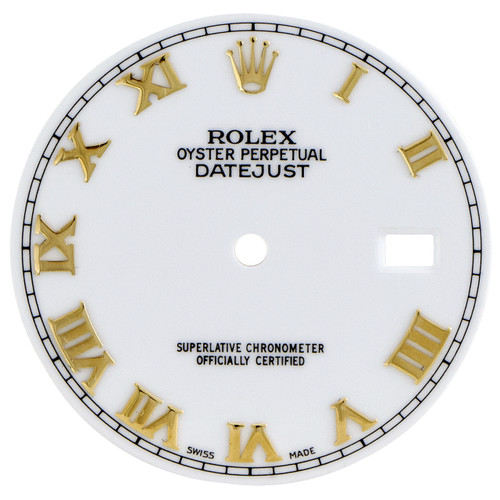 Factory Original Rolex DateJust 36mm Quick Set White Roman Dial Ref. # 16013