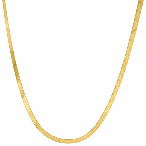 10k Yellow Gold Solid Necklace Silky Herringbone 3mm Chain 16 - 24 Inches New