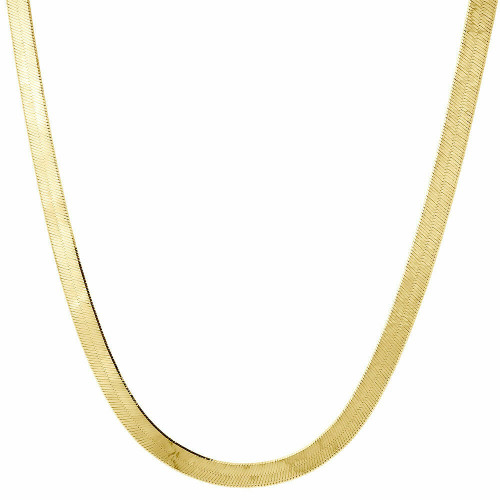 10k Yellow Gold Solid Necklace Silky Herringbone 4mm Chain 16 - 24 Inches New