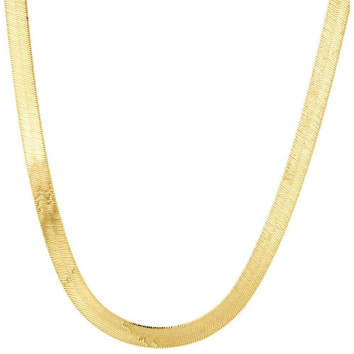10k Yellow Gold Solid Necklace Silky Herringbone 5mm Chain 16 - 24 Inches New